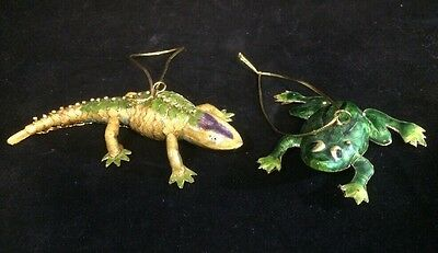 Frog And Lizard Ornaments