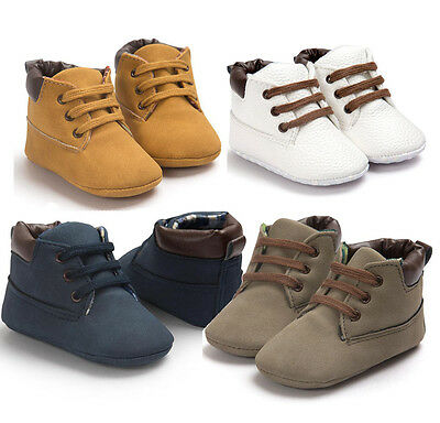 Baby Kid Boys Toddler Infant Shoes Soft Sole Crib Shoes Sneaker Size 0-18 Months