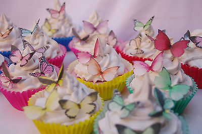 Butterfly Cupcake Topper Mixed Species 30pc Christening Baptism  Baby Shower