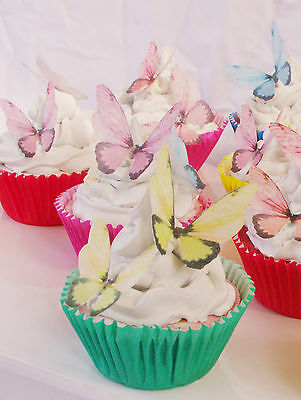 20pc Fairy Wing Butterfly Edible Cake Topper Rainbow Party Tutu Ballet Unicorn
