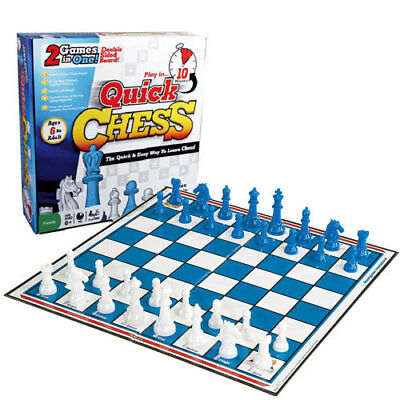 Quick Chess Fun Educational Learning 2-in-1 Kids Game Birthday Gift