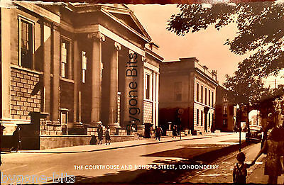 The Courthouse and Bishop Street Londonderry Postcard Derry Ireland