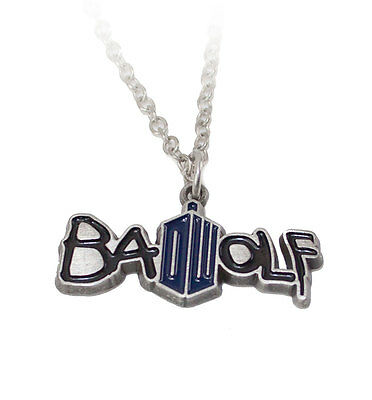 Doctor Who Bad Wolf Pendant Necklace with DW logo
