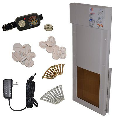 High Tech Pet Products Power Pet Motorized Dog Door in Medium or Large w/ collar