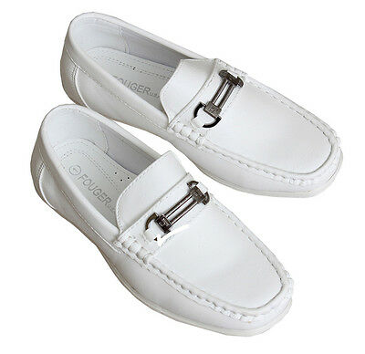Kids Slip on Dress Shoes for Toddlers and Boys, Loafer Style in 4 Colors - 513