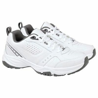 NEW Kirkland Signature Men's Leather Athletic Shoes- WHITE/GREY