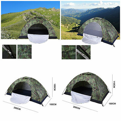 1/2 person Outdoor Camping Waterproof 4 season folding tent Camouflage Hiking