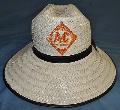 Allis Chalmers A-C Straw Hat Large Vtg Tractor Farm Advertising