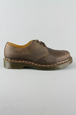 Dr Martens DM'S 1461 11838201 Gaucho Crazy Horse Brown Leather 3 Eyelet Shoes