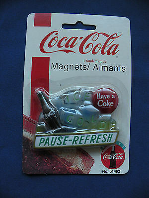 Coca-Cola Magnet 1997 ice cold coke pause-refresh No. 51462 orginal package