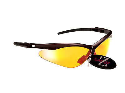 RayZor Light Enhancing Clear Amber Uv400 Archery Sports Wrap Sunglasses RRP£49