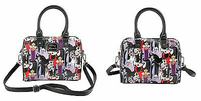 Disney Villains Loungefly Convertible Pebbled Textured Barrel Shoulder Hand Bag