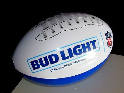 NEW Bud Light NFL Football Beer Inflatable Blow Up Pool Party Sponsor Budweiser