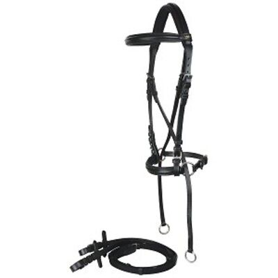 Norfolk Leather Bitless Bridle With Reins
