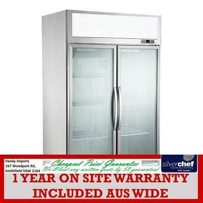 Fed Commercial Double Glass Door Upright Display Fridge Coller Chiller Sucg1000