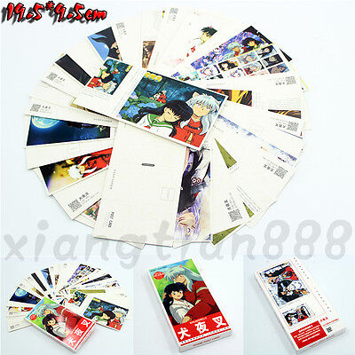 180pcs Anime Inuyasha Postcard+Bookmark+Paster Voiced Cosplay Collection Cute
