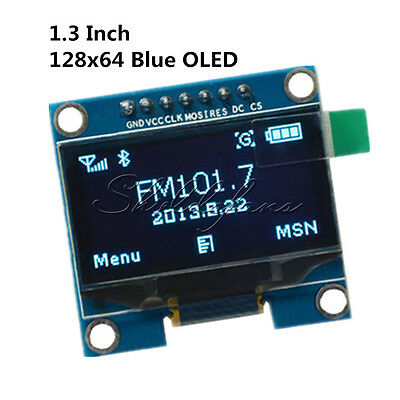 1.3'' Blue SPI Serial 128X64 OLED LCD Display Screen Module For Arduino UNO R3
