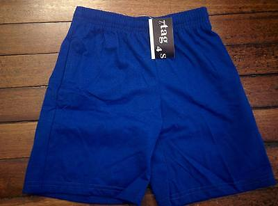 Royal Blue Boys Girls Kids Sports Wear School Shorts Short Pants Uniforms