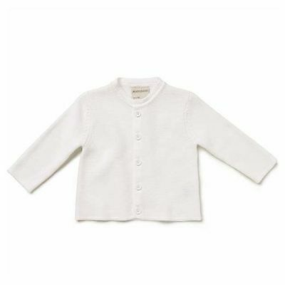 Marquise White Knitted Baby Cardigan 100% Cotton Kids Clothes Birthday Gift