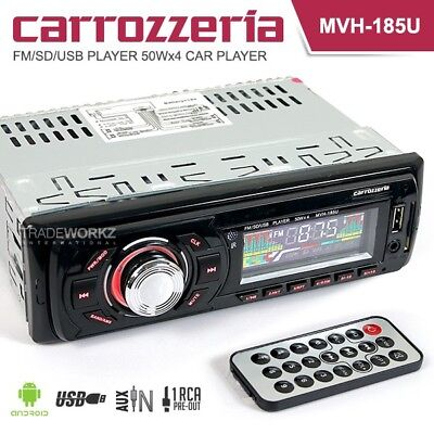 New CARROZZERIA MVH-185U 50Wx4 Non CD Car Headunit Stereo Player SD AUX USB