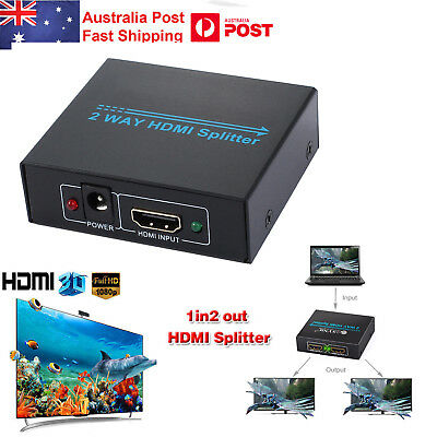 1080P HDMI Splitter Duplicator Amplifier 2 Output 1 Input 2 Way Switch Box Hub
