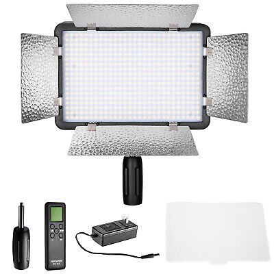 Neewer Remote Control 500 LED Dimmable Video Light with Diffuser for Canon Nikon