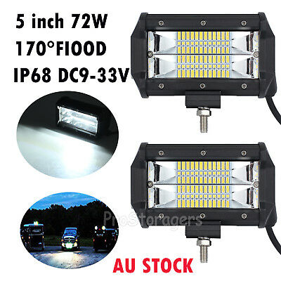 2x5 inch 72W Osram LED Light Bar Spot Flood Combo Work Driving Lamp Auto Offroad