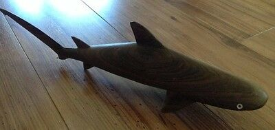 Shark Wooden Hand Carved Carving From Solomon Islands