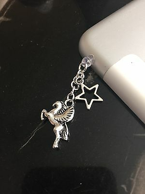 Flying Horse Fantasy Unicorn ?  Phone Charm Dust Plug Cover iPhone Tablet Gift