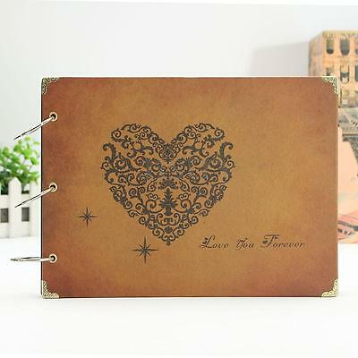 Vintage DIY Photo Albums Picture Scrapbook Diary Memory NoteBook Handmade Gift