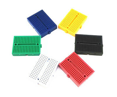 5PCS colourful Solderless Prototype Breadboard 170 Tie-points for Arduino