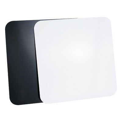 Set of 2 60x60cm Black & White Reflective Acrylic Boards for Product Photography