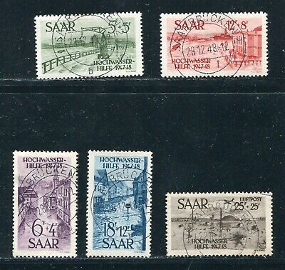 Germany France Saar 1948 Flood Disaster Relief Set