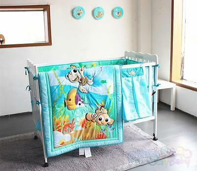 New 7 Pieces Adorable Nemo designs l Baby Boy Crib Cot Bedding Quilt Set