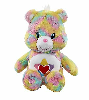 "Care Bears Soft 12"" Medium Plush with DVD - True Heart Bear - 43035 - New"