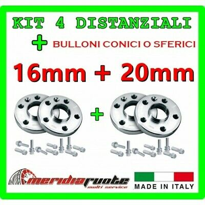 KIT 4 DISTANZIALI PER BMW X1 (N1) STAGGERED 2009-2015 PROMEX ITALY 16mm + 20mm