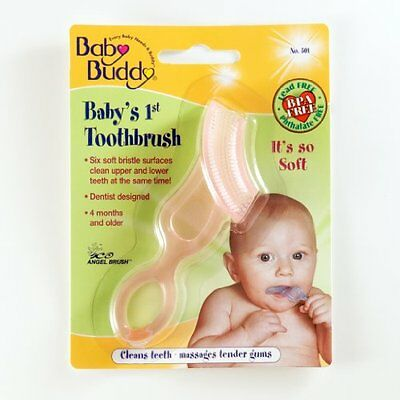 Baby Buddy Baby's 1st Soft Teeth Gum Toothbrush Pink ~New~