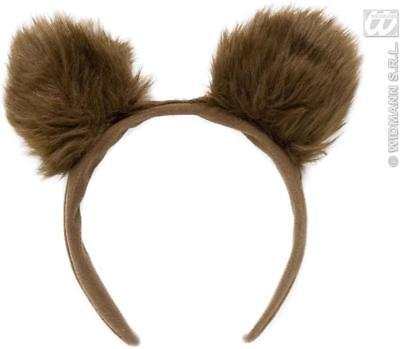 ** Fluffy Bear Ears Headband Adult Or Childrens Fancy Dress Prop New ** Animal