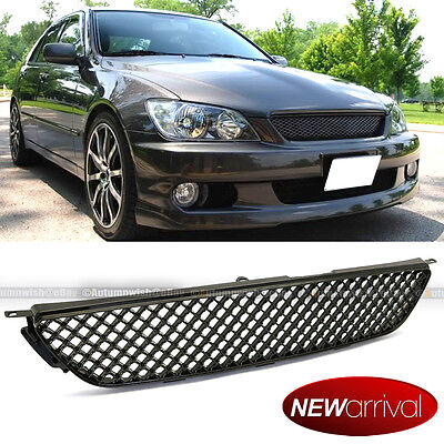 Fit 01-05 IS300 Glossy Black Honeycomb 3D VIP Altezza Hood Mesh Grill Grille