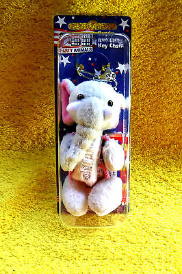 New In Pack Republican Gop Elephant Fuzzy Pez Dispenser, 2006 Retired Key Chain!