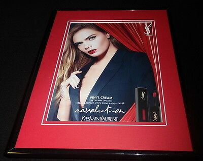 Cara Delevingne 2016 Yves St Laurent Framed 11x14 ORIGINAL Advertisement