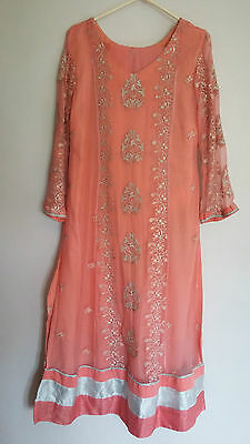 Pakistani Indian Designer Embroidered Suits Kameez Pajama Shawl Dupatta Wedding