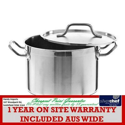 Fed Commercial Stockpots Quality 5 Stainless Steel Reinforced 50L