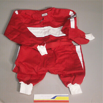 G-Force 4372xlgrd Driving Suit Gf105 Driving Suit, 1-Pc, Xlg/Red