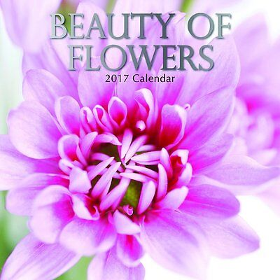 Beauty of Flowers 2017 Wall Calendar NEW by the Gifted Stationery