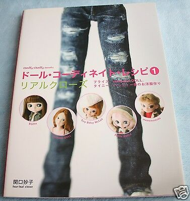 Doll Coordinate Recipe vol.1 Book Japanese Outfit Sewing Pattern Blythe momoko