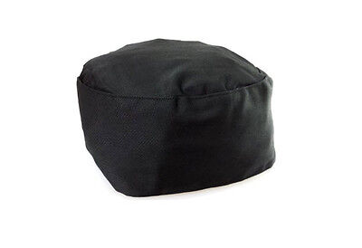 Black Chef Hat Adjustable Elastic Back Catering Cap Kitchen Cook Food Baker New