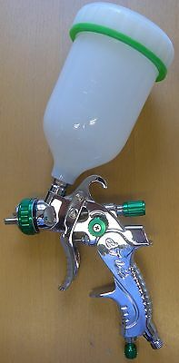 HVLP Gravity Feed Spray Gun 0.6 Litre Paint Container & 1.4mm Material Nozzle