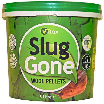 Slug Gone Organic Wool Pellets Natural Organic 5 litres