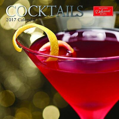 Cocktails 2017 Wall Calendar NEW by the Gifted Stationery